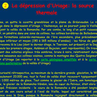 La dépression d'Uriage: la source thermale